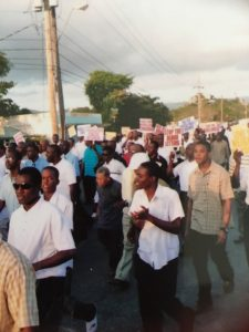marching in Jamaica