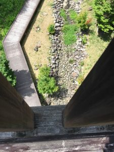 吊り橋から真下