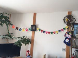 部屋の飾りつけ