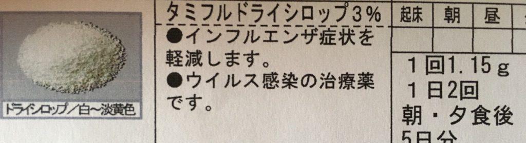 あきれる効果!!タミフルがすんごい☆インフルエンザA型復活劇