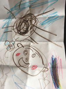 もも子が描いたモアナ