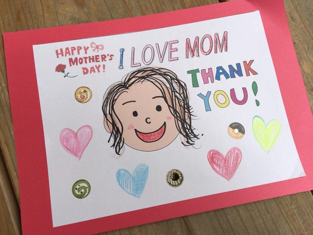 母の日カード完成図