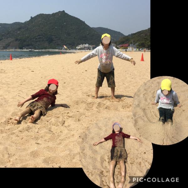 渋川海岸で水遊び
