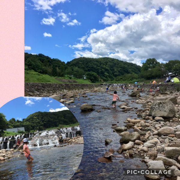 蒜山川遊び