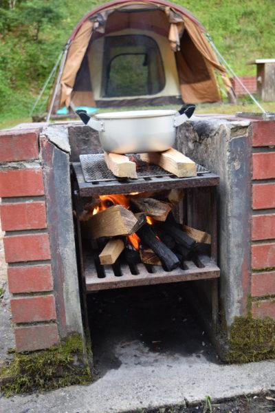 鳴滝森林公園キャンプ場の窯