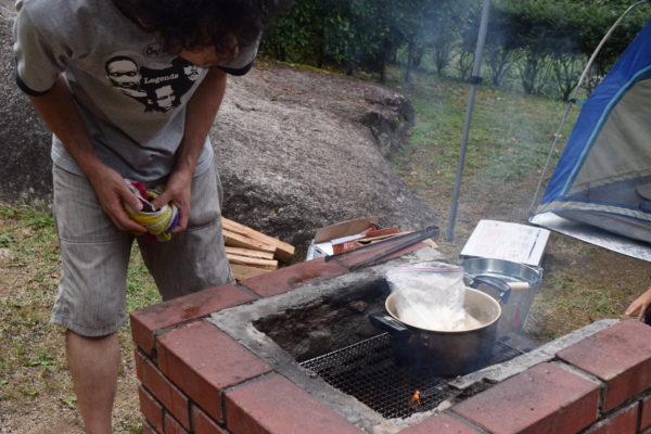 ジップロックでご飯炊き